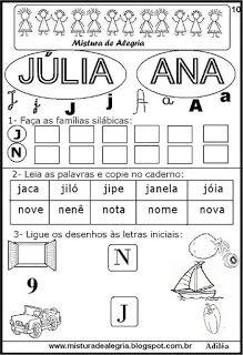 Brincando com os nomes -Júlia