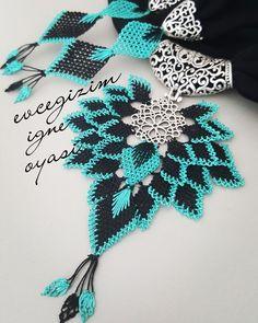 Tatting Patterns, Needle Lace, Chocker, Beading Projects, All About Fashion, Diy Flowers, Needlework, Crochet Necklace, Beads