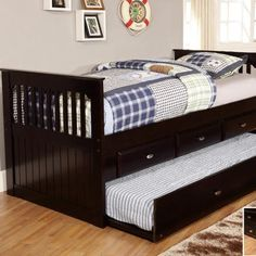 Discovery World Furniture Twin Rake Daybed with 3 Drawers and Trundle