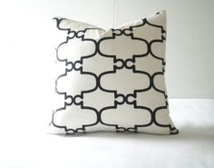 Black stripe pillow cover with white textured background, select your size during checkout- black white trellis pillow cover morrocan Tile pattern, White Black Trellis 18 White Trellis, Sofa Throw Pillows, White Texture, Striped Fabrics, Quatrefoil, Tile Patterns, Textured Background, Black Stripes, Pillow Covers