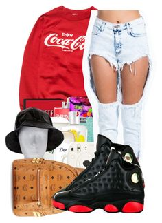 """."" by ray-royals ❤ liked on Polyvore featuring MCM and Retrò"