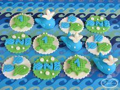 Sea cupcake toppers