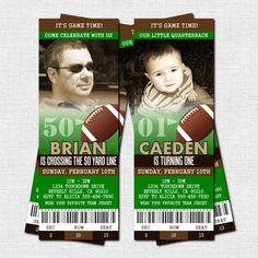 free printable football invitation templates football ticket