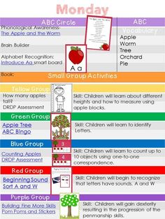 Apple Week Lesson Plans Download for free.