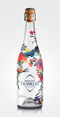 Franklin Lightly Sparkling Mount Franklin Lightly Sparkling is a limited edition Bird Garden Design by Akira Isogawa.Mount Franklin Lightly Sparkling is a limited edition Bird Garden Design by Akira Isogawa. Water Packaging, Cool Packaging, Beverage Packaging, Bottle Packaging, Brand Packaging, Design Packaging, Coffee Packaging, Label Design, Branding Design