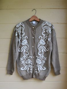 REDUCED Vintage 80s Cardigan Sweater Button Up by founditinatlanta, $30.00