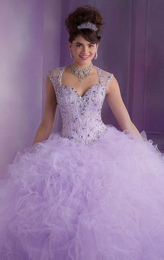 Dress Quinceanera 2014 Free Shipping Ball Gowns Light Purple Princess Quinceanera Dresses with Cap Sleeves $199.16