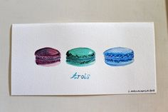 Trois macaron three little french sweets in by TheBlueStudio