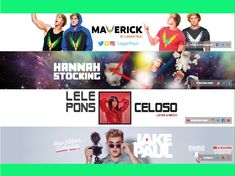 I will design an attractive youtube banner Youtube Banner Design, Youtube Banners, Hannah Stocking, Youtube Channel Art, Movies, Movie Posters, Film Poster, Films, Popcorn Posters
