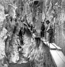 Camino Del Rey; the scariest hiking trail in the world, built in 1905. Please click: http://www.youtube.com/watch?v=ZmDhRvvs5Xw