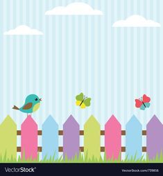 Kids Background, Polka Dot Background, Picture Borders, Diy And Crafts, Paper Crafts, Bird Party, Class Decoration, Bird Illustration, Cute Birds