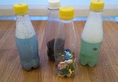 Bottiglie sensoriali: giochi Montessori fai da te