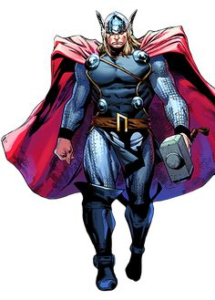 Superman - The Man Of Steel and Thor - the God Of Thunder fight it out to prove which team is better The Justice League or The Avengers! Marvel Lee, Asgard Marvel, Marvel Comics, Dc Comics Art, Marvel Heroes, Marvel Characters, Odin And Thor, The Mighty Thor, Marvel Universe