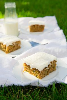 Zucchini Cake with Cream Cheese Frosting | Cooking Classy - *used sour cream instead of greek yogurt and 1/4c of oil and 1/4c of apple cider as I didn't have applesauce