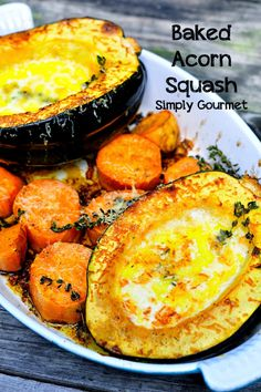 Simply Gourmet: Creamy Baked Acorn Squash #SundaySupper