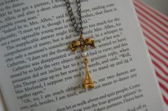 Parisian Chic  Eiffel Tower Necklace by AvecAmourLauren on Etsy, £8.00