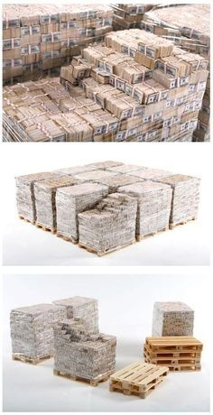 This is One Billion Dollars in cash, 100 dollar bills    Anyone have a forklift?