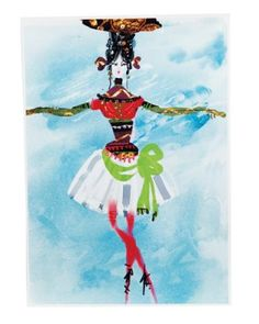 Another Christian Lacroix costume sketch as seen in Elle Decor.