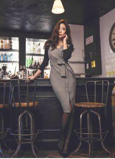 Mulheres Vestidos de Outono 2017 Escritório Patchwork Cinza Preto Com Decote Em V Manga Comprida Bandage Bodycon Vestido Bainha Sexy Vestido de Festa Vestidos em Vestidos de Das mulheres Roupas & Acessórios no AliExpress.com   Alibaba Group