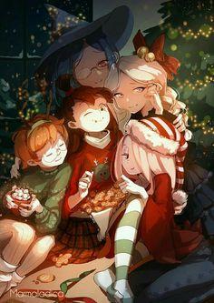 (little witch academia) Fanarts Anime, Anime Characters, Manga Anime, Anime Art, Little Witch Academia Lotte, Little Wich Academia, Anime Witch, Awesome Anime, Anime Love