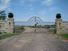 Iron custom monogram entrance gate
