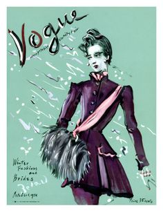 Vogue Cover - October 1936 Poster Print  by Christian Berard at the Condé Nast Collection