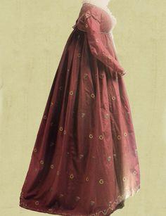Regency Dress Regency Dress, Regency Era, Historical Costume, Jane Austen, Time Travel, Bobs, Period, Empire, Raincoat
