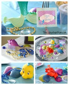 Little Mermaid Birthday Party Decorations Details