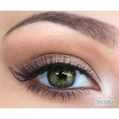 Natural eyeshadow for green eyes