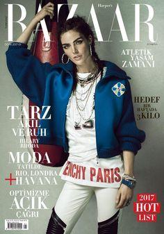 Hilary Rhoda by Matallana for Harper's Bazaar Turkey January 2017 Cover