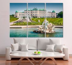 Vienna Artwork Austria Wall Art Schloss Belvedere Canvas Print Summer residence Poster Print Prince Eugene of Savoy Home Design Canvas by ArtWog Office Wall Decor, Office Walls, Oversized Wall Art, Thing 1, Colorful Wall Art, New Years Decorations, Rest Of The World, Poster Prints, Art Print