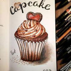 My first capcake scetch with marcers)) So sweet) With love!))❤☕🍫✌ Участвую в #экстримскетчинг2 , нарисовала шоколадный кексик с карамельным кремом и шоколадным сердечком! Всем хороших сладких выходных!  #kalachevaschool #sketching#sketchbook #скетчбук #sketches #latte #артблог #artblog #winsor&newtonsketch #winsor&newtonmarker #stitchmarkers #sketchmarker #sketchbook #sketching #sketches #myskechbook #food #drawing #мойскетчбук #arteveryday#чашкакофе #любимыйкофе  #блогхудожника…