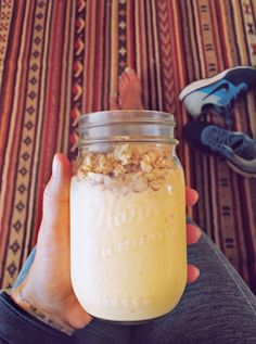 I'm whipped.Add this to the delicious blender concoction that tastes like it's bad for you but is 100% wholesome goodness list.In a blender whip up the following the following.• 1/2 frozen banana• Handfull frozen pineapple• Handfull frozen mango chunks• 1 scoop vanilla protein powder• Juuuust enough coconut milk so it will actually blend• A little lime juice• Blend until it's all whipped up an creamy. Then top with a little granola.Yumness to the maximus.