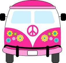 Dibujos Clipart Digi stamps  Hippie Van  Blue Car