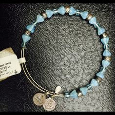 Alex and Ani Mosaic Russian Silver Bangle BLUE NWT Beautiful & Authentic Alex and Ani SKY BLUE Mosaic Russian Silver Bangle Bracelet with the tags still affixed. Retail 28.00 Alex & Ani Jewelry Bracelets