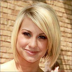 Short, blonde hair