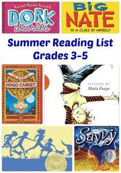Terrific Summer Reading List for Kids in Grade 3, Grade 4 and Grade 5!