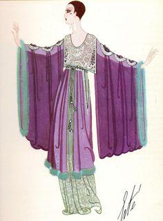 Erté, fashion illustration