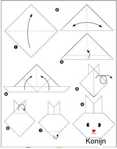 origami lapin Plus Origami Yoda, Origami Ball, Gato Origami, Instruções Origami, Origami Star Box, Useful Origami, Bunny Origami, Origami Folding, Origami Design