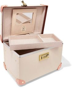 Safari 13 Leather-trimmed Fiberboard Vanity Case - Cream Globetrotter Wa718cz