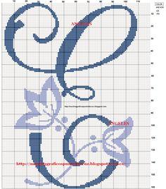 GRAFICOS PUNTO DE CRUZ GRATIS : INICIALES(14)
