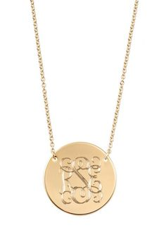 A silver or gold monogram necklace makes the perfect unique gift. For a gorgeous nameplate, pick up the Signature Engravable Disc Necklace from Stella & Dot.