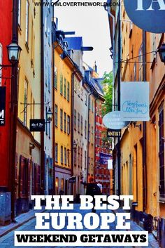 With all of these cheap flights around Europe how not to take advantage to hop on the plane and have a wonderful weekend in a new place, a new city. But where to go just for the weekend? Keep reading to discover the best Europe weekend getaways and your next destination.   The best Europe weekend getaways / Weekend getaways / Europe travel tips / Places to visit in Europe / Travel tips / Weekend getaways in Europe / Whete to go for the weekend / Travel around Europe / Amazing places to visit…