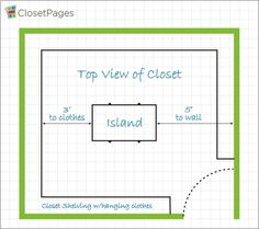 Custom Closet Island Top View Kids Closet Storage, Toddler Closet Organization, Closet Shelves, Closet Ideas, Walk In Closet Design, Closet Designs, Master Closet, Closet Bedroom, Master Suite