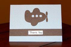 cute airplane card