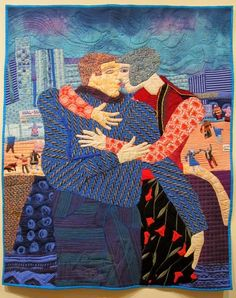 Kissing In Public by Pamela Allen, Canada.  Photo by Judy Martin | Judy's Journal: quilts=art=quilts 2014