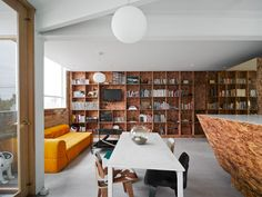 """The Cubby House by Edwards Moore -  Renovation design of an apartment in Melbourne.  Purpose = to provide another floor to the apartment, """"Raumplan"""" inspired."""