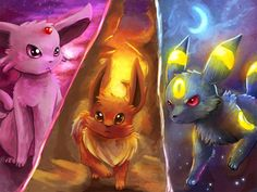 Johto Eeveelution Strike!! by =AbusoRugia