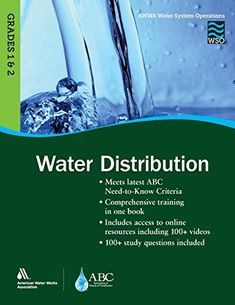 Wso Water Distribution Grades 1 2 Awwa Water System Operations Paperback In 2020 Free Books Online Books To Read Online Audio Books