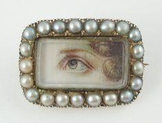 Renaissance Jewelry, Victorian Jewelry, Antique Jewelry, Vintage Jewelry, Hair Brooch, Pearl Brooch, Lovers Eyes, Lovers Art, Stuart Crystal